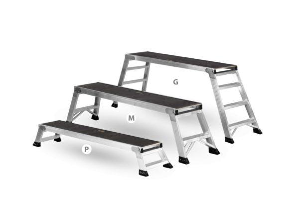 aluminiowe składane rusztowanie, podest montażowy, platforma robocza UP&DOWN