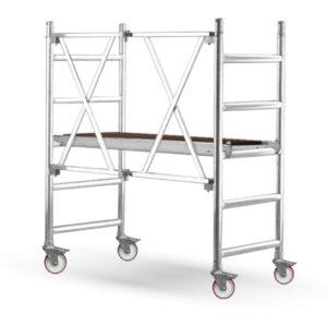 aluminiowy podest roboczy - jezdny